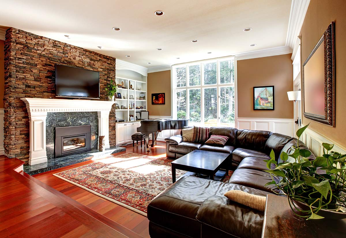 Living room with valuables covered under homeowners insurance in Babylon NY